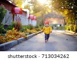 cute toddler boy playing...   Shutterstock . vector #713034262
