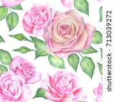 seamless floral pattern with... | Shutterstock . vector #713039272