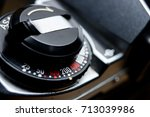 close up shot of film rewind... | Shutterstock . vector #713039986