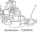 engine with gear box side   Shutterstock .eps vector #71304370