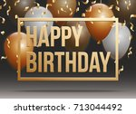 happy birthday vector... | Shutterstock .eps vector #713044492