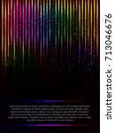 poster template background with ... | Shutterstock .eps vector #713046676