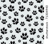 dog's footprints seamless... | Shutterstock .eps vector #71304940