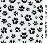 dog's footprints seamless... | Shutterstock .eps vector #71304940