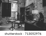 old chair black and white | Shutterstock . vector #713052976
