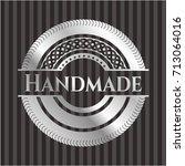 handmade silvery emblem or badge | Shutterstock .eps vector #713064016