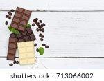 chocolate chocolates bar food...   Shutterstock . vector #713066002