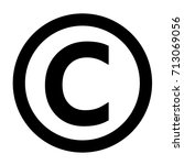 copyright symbol in flat... | Shutterstock .eps vector #713069056