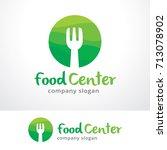 food center logo template... | Shutterstock .eps vector #713078902