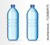 transparent plastic bottles... | Shutterstock .eps vector #713080975