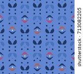geometric seamless pattern on... | Shutterstock .eps vector #713082205