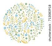 beautiful flowers set. vector... | Shutterstock .eps vector #713083918