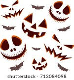 halloween ghosts seamless... | Shutterstock .eps vector #713084098
