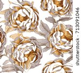 seamless pattern with a gold... | Shutterstock .eps vector #713091046