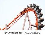amusement park | Shutterstock . vector #713093692