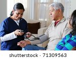 home health care worker and an
