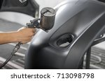 auto body repair series ... | Shutterstock . vector #713098798