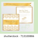 luxury wedding invitation... | Shutterstock .eps vector #713100886