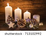 advent background decoration...   Shutterstock . vector #713102992