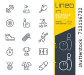 lineo editable stroke   sports... | Shutterstock .eps vector #713116732