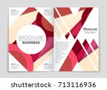 abstract vector layout... | Shutterstock .eps vector #713116936