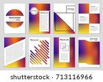 abstract vector layout... | Shutterstock .eps vector #713116966