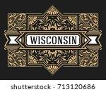 baroque frame and label design.   Shutterstock .eps vector #713120686