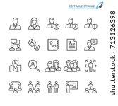 business line icons. editable... | Shutterstock .eps vector #713126398