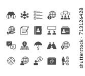 business flat icons | Shutterstock .eps vector #713126428