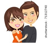 happy couple smiling and... | Shutterstock .eps vector #71312740