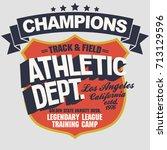 california sport wear... | Shutterstock .eps vector #713129596