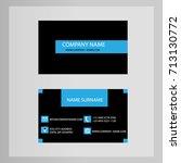 business card design blue tech... | Shutterstock .eps vector #713130772