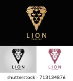 lion logo. luxury lion logotype.... | Shutterstock .eps vector #713134876