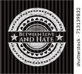 between love and hate silvery... | Shutterstock .eps vector #713139832