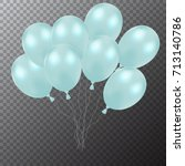 3d realistic colorful balloons. ...   Shutterstock .eps vector #713140786