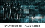 data processing as system and... | Shutterstock . vector #713143885