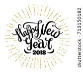 happy new year typography.... | Shutterstock .eps vector #713150182