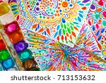 bright abstract intuitive... | Shutterstock . vector #713153632