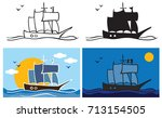 illustration on a white... | Shutterstock .eps vector #713154505