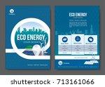 eco energy brochure design.... | Shutterstock .eps vector #713161066