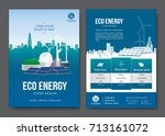 eco energy brochure design.... | Shutterstock .eps vector #713161072