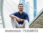young businessmen look good on... | Shutterstock . vector #713168572