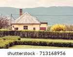 old rail station in the natural ... | Shutterstock . vector #713168956