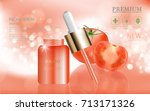 hydrating facial serum for... | Shutterstock .eps vector #713171326