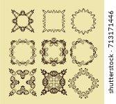illustration of set of vintage... | Shutterstock .eps vector #713171446