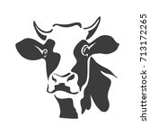 beef head isolated  cow black...   Shutterstock .eps vector #713172265