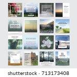 editable simple modern info... | Shutterstock .eps vector #713173408