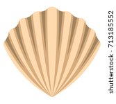 vector clam isolated on white...   Shutterstock .eps vector #713185552