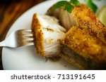 Catfish Roasted In Batter On A...