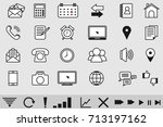 thin icons for media and... | Shutterstock .eps vector #713197162
